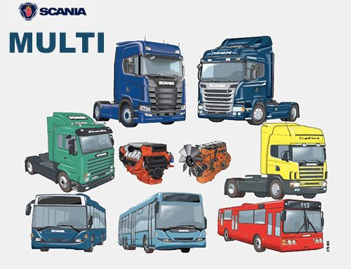 Scania Multi 2019 Parts Catalogue