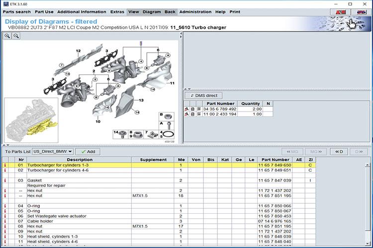 BMW ETK 2019 Electronic Parts Catalogue